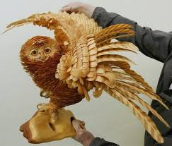 owl wood carving 20 creative wood carving works from around the world