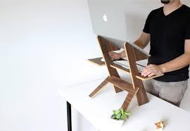 portable modern desk laptop table eco friendly bamboo table