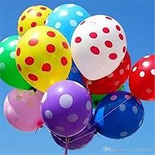 polka dot balloons 12 assorted balloons polka dot balloon for party wedding