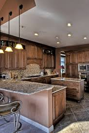 kitchen colors with medium brown cabinets cabinets with white granite countertops countertopsnews