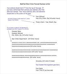Business Letter Return Address business letter template