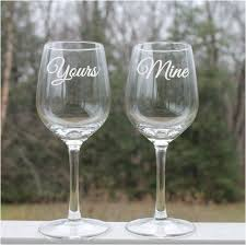 his hers wine glasses 90 best etched wine glasses etched stemless wine glasses wine