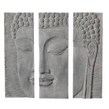 deco chambre zen bouddha triptyque bouddha maisons du monde