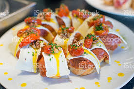 cuisine basque tapas basque cuisine pintxos bilbao spain stock photo