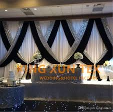 wedding backdrop online white and black 3m 6m wedding backdrop curtain stage background