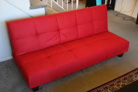 Klik Klak Sofas Red Microfiber With Adjustable Back Klik Klak Sofa Futon Bed