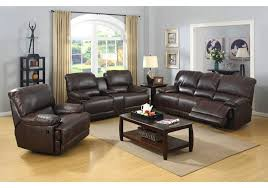living room prescott brown leather reclining sofa u0026 console