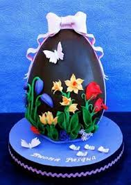 Decorating Easter Eggs With Plastic Icing tulip and lilac easter egg cake easter egg cake egg cake and lilacs
