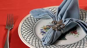 how to make fancy table napkins how to fold a napkin into a fleur de lis napkin folding youtube