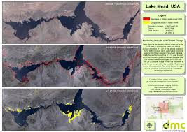 Lake Mead Map 15 Years Of Drought And Human Demand Affect The Water Levels Of