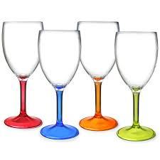 flamefield acrylic wine glasses 10oz 290ml plastic wine