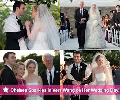 chelsea clinton wedding dress pictures of bill and chelsea clinton at wedding to