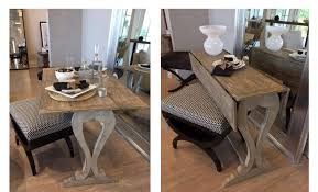 console turns into dining table beautifully small