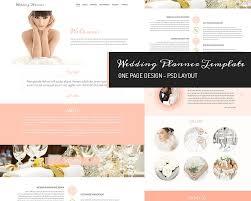 wedding planner website one page design wedding planner website templates creative