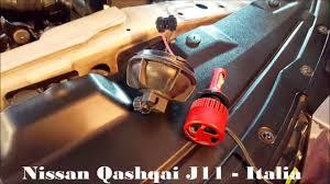 nissan qashqai j11 accessories installazione abbaglianti ed anabbaglianti led h7 h11 cree xhp 50