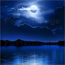johan swanepoel moon and clouds water poster