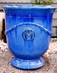 blue outdoor glazed pot vietnam outdoor ceramic pots expoter