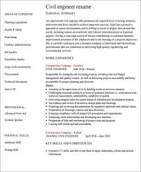 Civil Resume Sample by 23 Engineering Resume Templates In Pdf Free U0026 Premium Templates