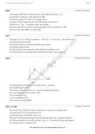 download u0026 study as maths coordinate geometry test worksheet for