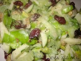 celery apple salad with honey yogurt vinigarette oh taste n see