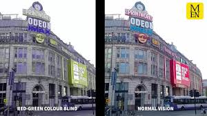 What Is Colour Blindness Like This Is What Manchester Looks Like To Colour Blind People