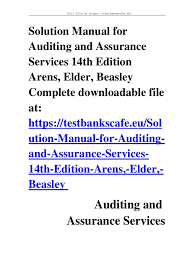 solution manual for auditing and assurance services 14th edition