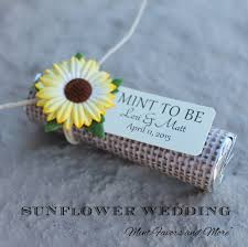 sunflower wedding favors mint candy wedding favors burlap wedding favors mint to be