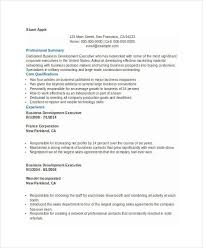 Executive Resume Template Free Business Development Executive Resume Executive Resume 11 Best