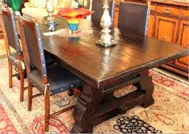 reclaimed trestle dining table reclaimed wood spanish trestle dining table in a distressed dark