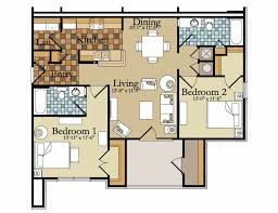 Two Bedroom Apartments Floor Plans Elegant Interior And Furniture Layouts Pictures Small Two
