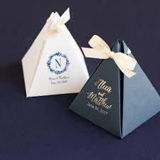 personalized boxes personalized pyramid favor box