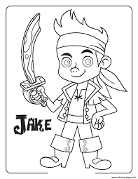 jake and the neverland pirates halloween coloring pages printable