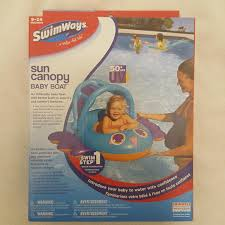 Swimways Baby Spring Float Sun Canopy Blue by Amazon Com Sun Canopy Baby Float By Swimways In Blue Purple Toys