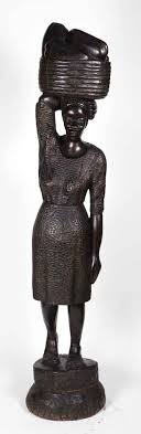 carved wood statue from haiti olde things