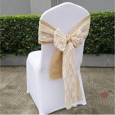 lace chair sashes elegance wedding party hotel supply mix color hemp lace chair