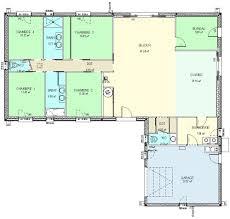 plan villa plain pied 4 chambres construction 86fr plan maison plain pied de type 6 moderne plan