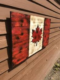 wood wall how to make a canadian flag using boards paint