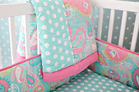 Crib Bedding Sets Paisley Baby Bedding Paisley Crib Bedding Aqua Baby Bedding