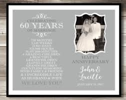 60 year anniversary party ideas 60th anniversary etsy
