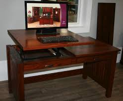 stand to sit desk amish valley solid wood sit stand writing desk