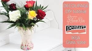 Ikea Vases Wedding Decoupage Tutorial Diy Glass Flower Vase Decoration Glass Vase