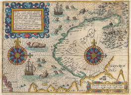 World Map With Seas by 1601 De Bry And De Veer Map Of Nova Zembla And The Northeast