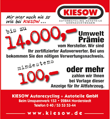 G Stige K Henhersteller Kiesow Autorecycling Autoteile Mir War Noch Nie So Wie Bei Kiesow