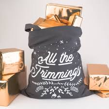 christmas sack all the trimmings tote bag alternative