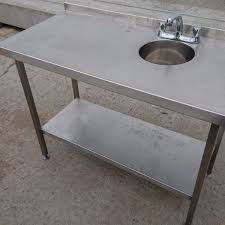used stainless steel tables for sale used stainless steel table hand sink 120cmw x 60cmd x 89cmh h2