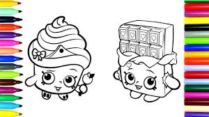 coloring pages shopkins drawing pages color kids
