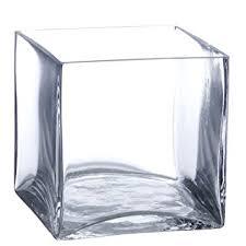 Square Vase Wholesale Amazon Com Candles4less Bulk 6 Pieces 6 Inch Clear Glass Square