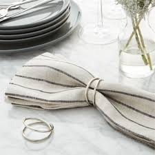 crate and barrel napkins aria silver napkin ring in napkin rings place card holders