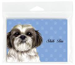 shih tzu note cards set of 8 with envelopes puppy cut