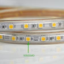 upgrad copper wire 220v smd 5050 led strip light 1m 18m ip65